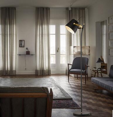 Verticale vloerlamp Moderne minimalistische Nordic woonkamer vloer ...