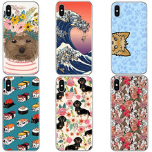 Porque Os Gatos Floral Francês BullBloom grande onda de pug Rígido PC Phone Case Capa para iphone 5 Coque 5S SE 6 6 7 8 Plus X 10 SPlus(China)
