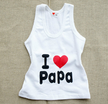 Kids Baby Boys Girls Letter Vests T-shirts 1-7Y