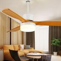 Ретро скандинавский вентилятор свет три волос листья вентилятор света китайский стиль твердой древесины гостиной лампа очень спокойный от