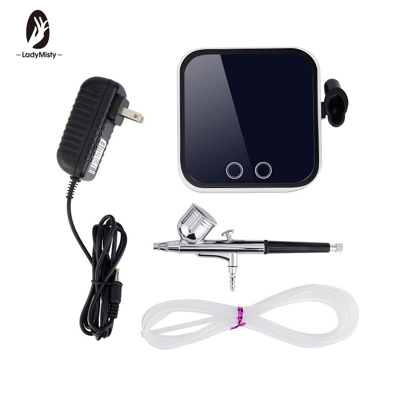 0 3mm 7CC Airbrush Kit Compressor Portable Touch Machine Air Brush Use For Tattoo Body Paint