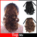 Women Ponytails Hair Extensions Afro Kinky Wavy Curly Hair Ponytail Hairpiece Drawstring Pony Tail Fluffy Black Brown Hairpieces