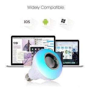 Image 4 - Vontar Thông Minh LED E27 Loa Bluetooth Không Dây 12W RGB Bóng Đèn LED 110V 220V Nghe Nhạc âm Thanh Có Điều Khiển Từ Xa