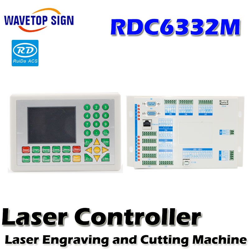 Ruida RD 1set  RDC6332M Co2 Laser DSP Controller for Laser Engraving and Cutting Machine co2 laser metal cutting use economic leetro mpc 6525a 6535 motion controller for co2 laser cutting machine upgrade of 6515