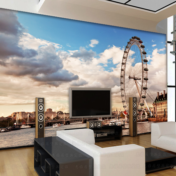 Photo Wallpaper London 3D Large Wall Painting Living Room Bedroom Sofa TV  Background Wallpaper Restaurant Lounge Bar Mural In Wallpapers From Home ... Part 85