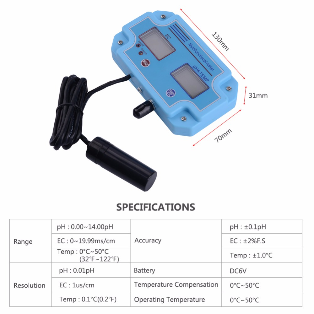 Accuracy LED High PH EC Tester Digital Yieryi 1 Monitoring Equipment 2 PH And With Meter 2981 Tool In
