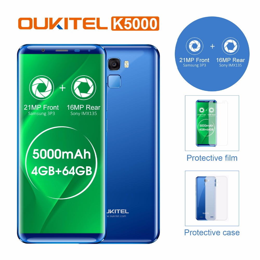 Oukitel K5000 5 7 HD Full Display Mobile Phone MTK6750 Octa Core Android 7 0 4GB