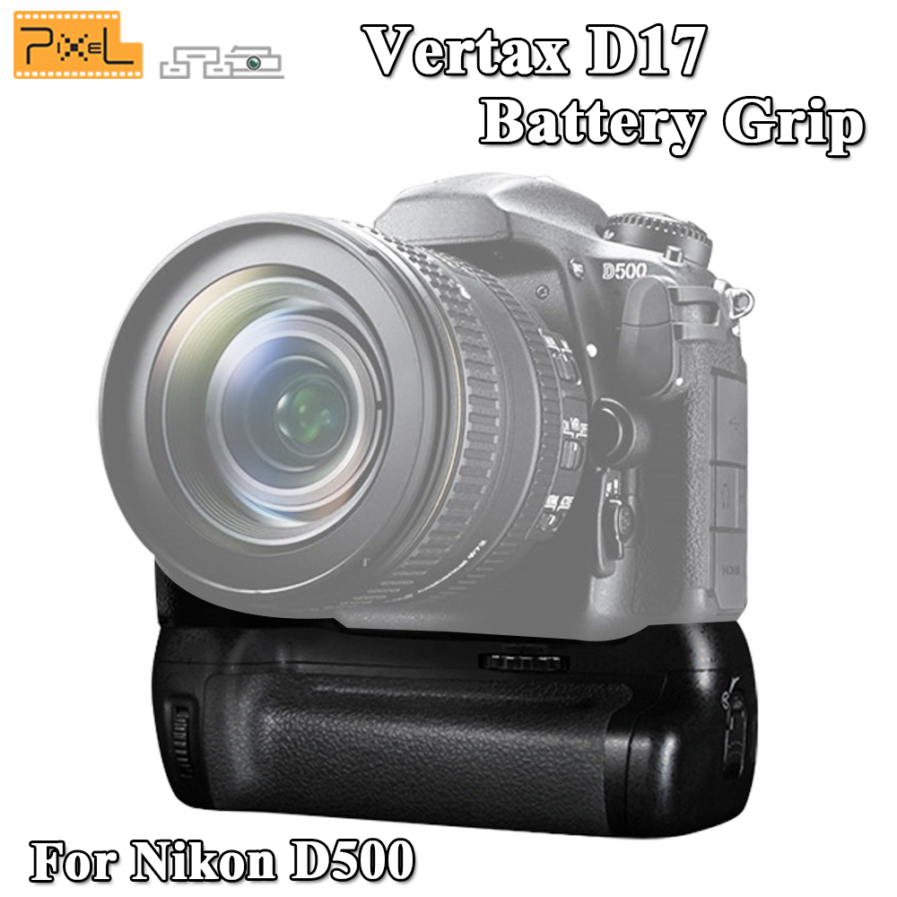 Pixel Vertax D17 Professional Battery Grip For Nikon D500 DSLR Camera Vs MB-D17 Battery Grip Free Shipping meike mk d500 vertical battery grip shooting for nikon d500 camera replacement of mb d17