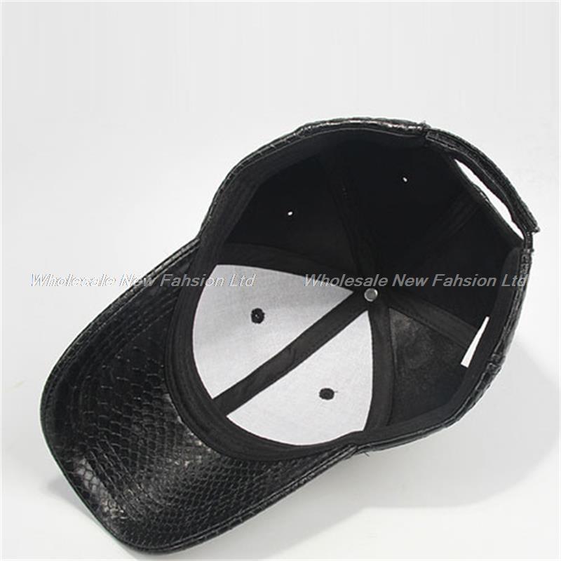 12pcs lot Novelty Mens Snakeskin Faux Leather Baseball Caps for Spring  Autumn Winter Men Black Baseball Hats Bulk Wholesale Hat-in Baseball Caps  from ... 300c50c4bdbb