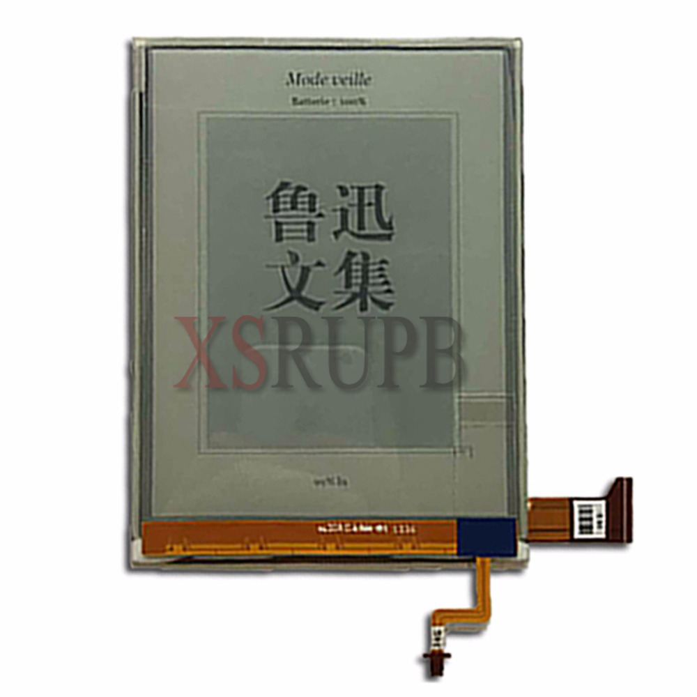 100 NEW 6 inch 1024x758 e-ink E-book reader ED060XC9 With light without touch screen LCD Screen Display Panel