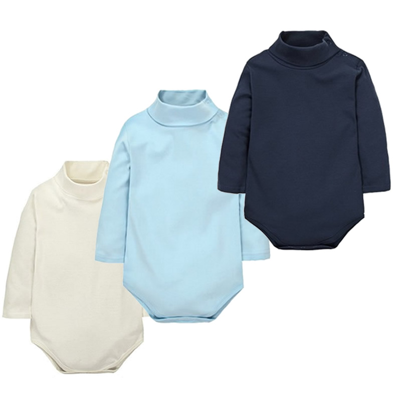 12-Color-Baby-Clothes-0-24M-Newborn-baby-boy-girl-clothes-Jumpsuit-Long-Sleeve-Infant-Product-solid-turtleneck-Baby-Rompers-1