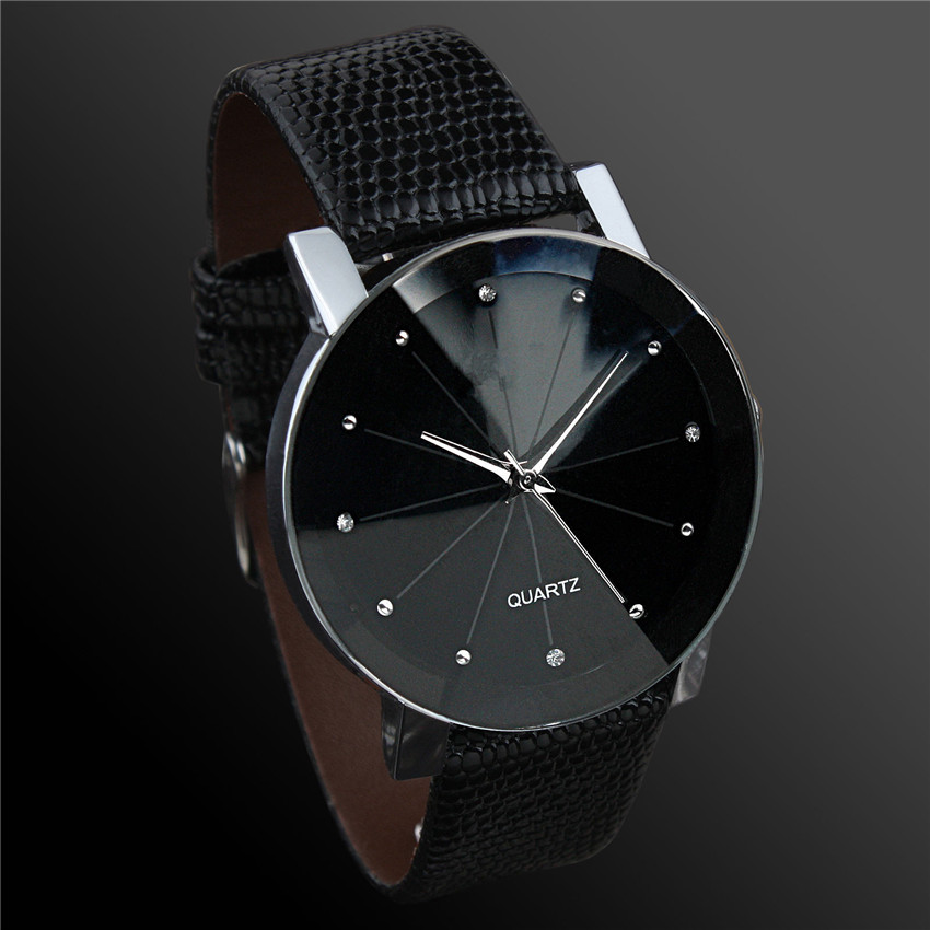 Luxury Military Watch Women Leather Male Business Dial Quart-watch Leather Wristwatch Wrist Watch Men Erkek Kol Saati D50