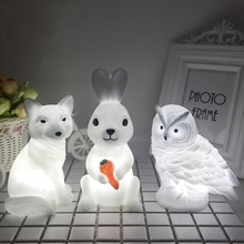 Rabbit Fox Owl Night Lights High Quality Cute Baby Bedroom Lamps Manufacture Holiday Atmosphere Family Party LED