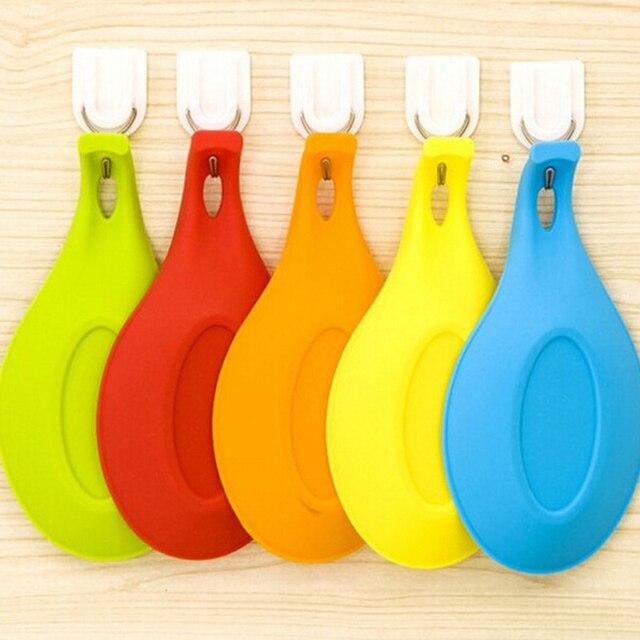 Kitchen Accessories Gadgets Silicone Multipurpose Spoon Rest Mat Holder for Tableware Kitchen Utensil Kitchen Gadgets Supplies 4