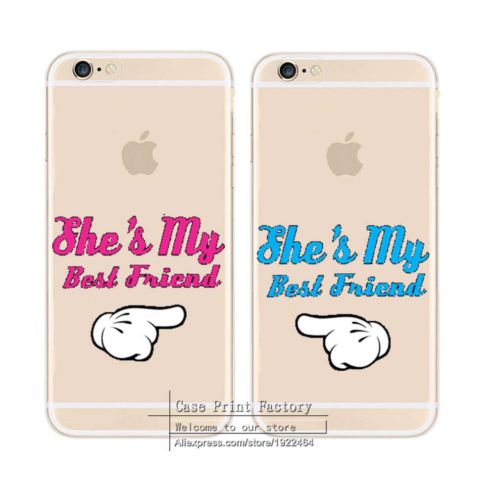 She Is My Best Friend Design Case Cover For Apple iPhone 4 4S 5 5S SE 5C 6 6S 7 Plus