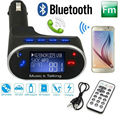 Handsfree Car Kit Wireless Bluetooth FM Transmitter Modulator Car Charger AUX MP3 Player Support SD/TF Card With Remote Control