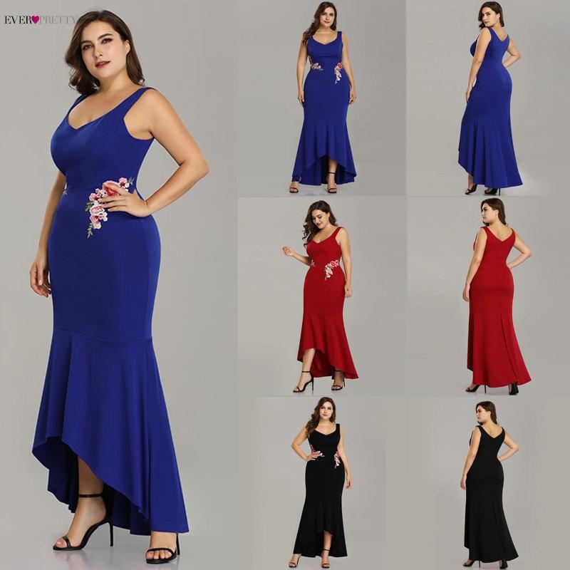 Элегантный плюс размеры вечерние платья Ever Pretty EZ07689 нашивки русалка формальное платье EZ07689 бордовый атласное платье 2019
