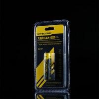 2 шт. Nitecore NL147 14500 литий-ионная аккумуляторная батарея Nitecore 750mAh 3 7 V + бесплатная доставка