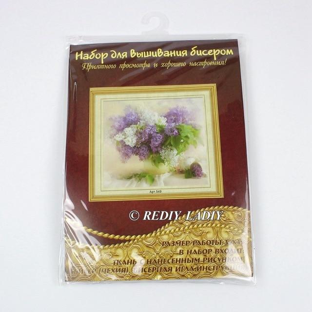 30.5×3 6cm Précis imprimé cristal perles kit de broderie fleurs perlage artisanat couture bricolage perles point de croix 2