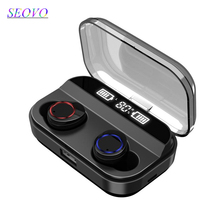 Seovo TWS Wireless Earphone Bluetooth 5.0 Earphones Power Bank Digital Display Touch Control Sport HIFI 8D Stereo Earbuds