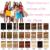 Brasileiro Cabelo Virgem 100% Remy Grampo Em Extensões de Cabelo Humano Clipe sobre a Cabeça Cheia Set 28 Cores disponíveis 70g/100g Set Clipe Ins