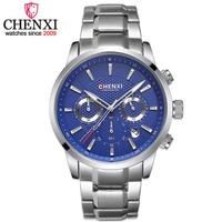 CHENXI Fashion Brand Men Quartz Watch Men Military Male Sports Full Stee Chronograph Waterproof Wrist Watches