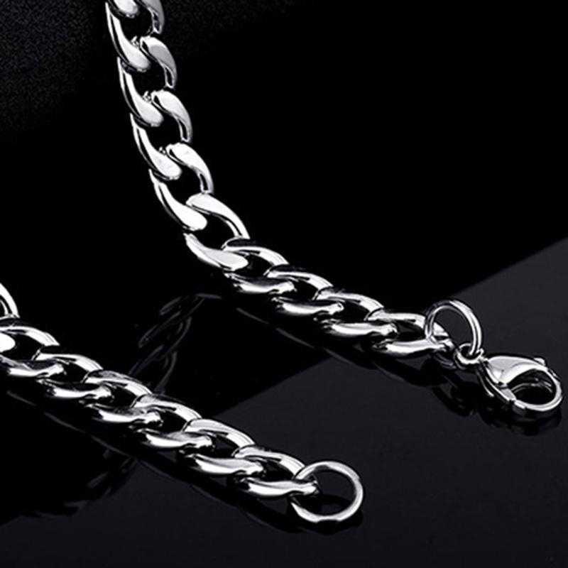 Mężczyzn ze stali nierdzewnej długi łańcuch naszyjnik ze srebra próby 4.5-7mm naszyjnik dla mężczyzn bransoletka DIY tworzenia biżuterii materiał luzem