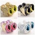 Hot 2016 Opcional de Cuero de LA PU de Oro Bebé Mocasines Zapatos de Bebé Muchachas de los muchachos Ocasionales Zapatos De Marca Inferior Suave Zapatos de Bebé Recién Nacido alas