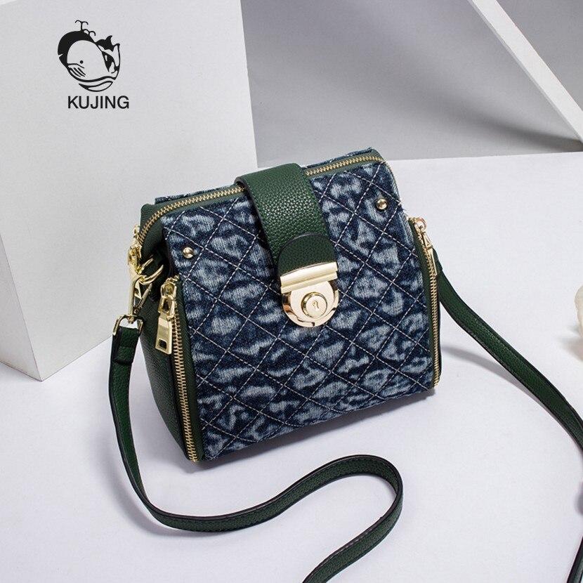 KUJIN Women Handbag High-quality Women Small Square Bag Trend Lingge Women Shoulder Messenger Bag Luxury Travel Casual Women Bag