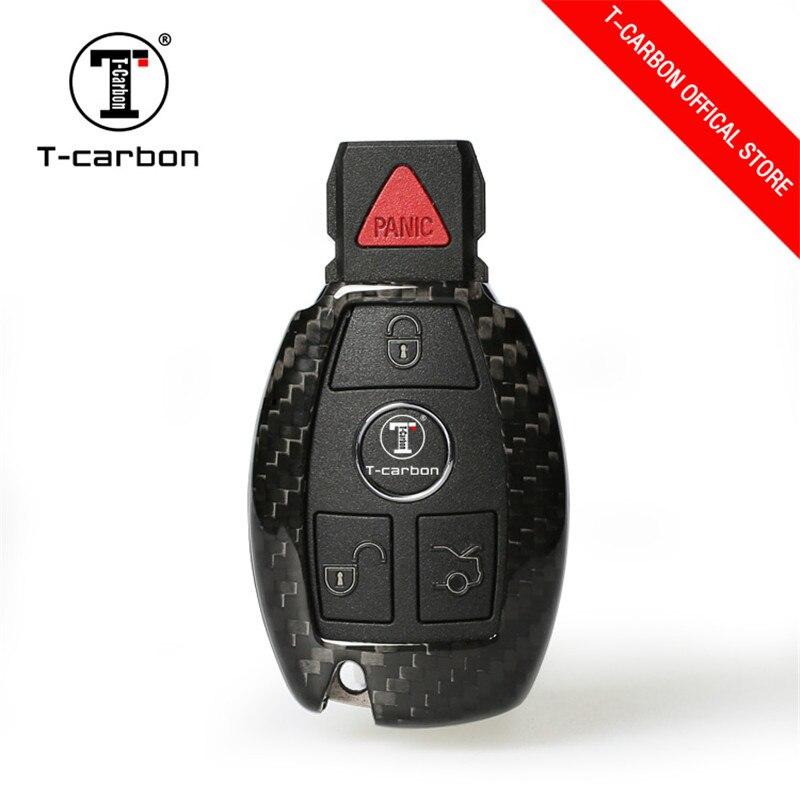 Car Key Case Shell Carbon Fiber for Mercedes For Benz W204 W205 W212 A B C