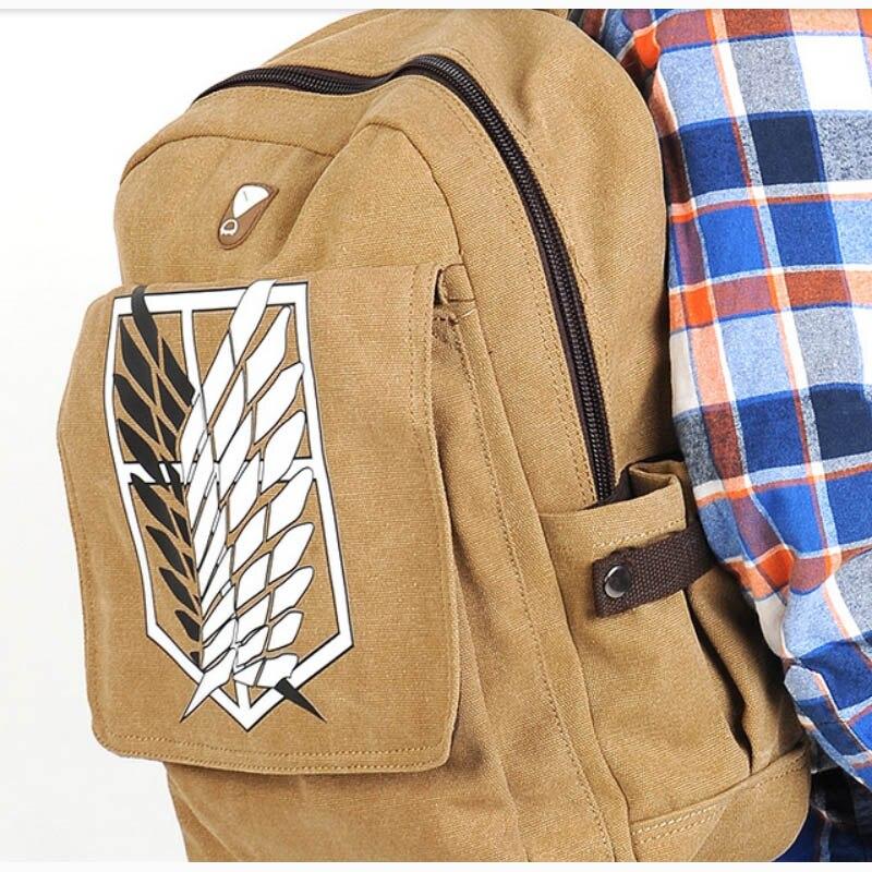 ECOPARTY Knapsack Scouting Legion Shingeki No Kyojin Attack On Titan Japanese Cosplay Canvas Backpack Schoolbag Shoulder Bag