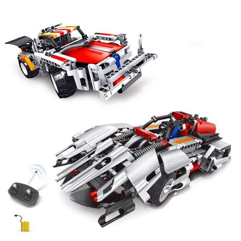 جديد تكنيك سلسلة RC سيارة نموذج 445 قطعة اللبنات التحكم عن بعد سيارات رخيصة كتلة DIY ألعاب مكعبات للأطفال عيد ميلاد لعبة-في حواجز من الألعاب والهوايات على  مجموعة 2