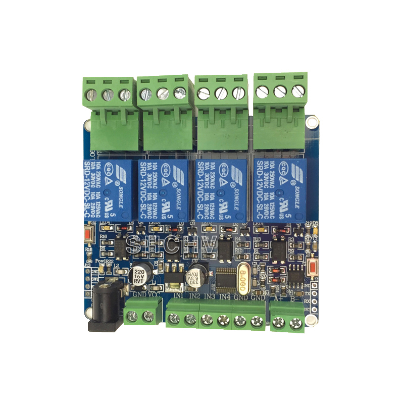 Darmowa wysyłka czujnik MODBUS-RTU 4 way moduł przekaźnikowy STM8S103 MCU dwa rozwoju RS485 komunikacji TTL czujnik