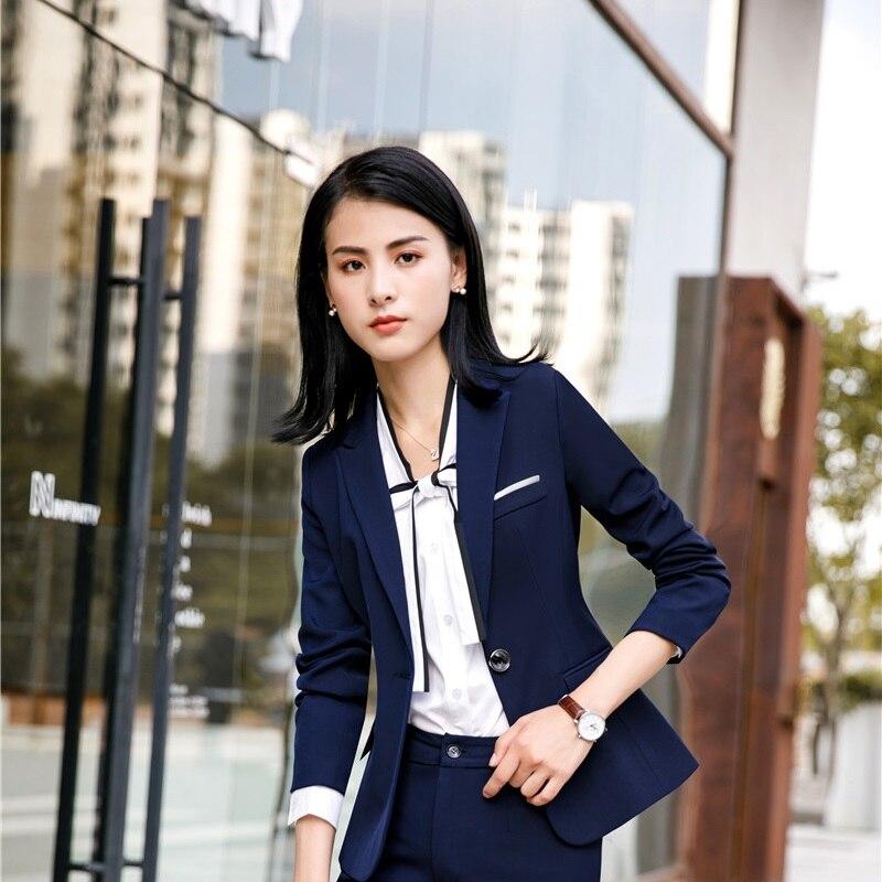 Uniform Designs Long Sleeve Ladies Jackets Coat Blazers Women Business Female Tops Outwear Clothes OL Styles Autumn Winter Coats