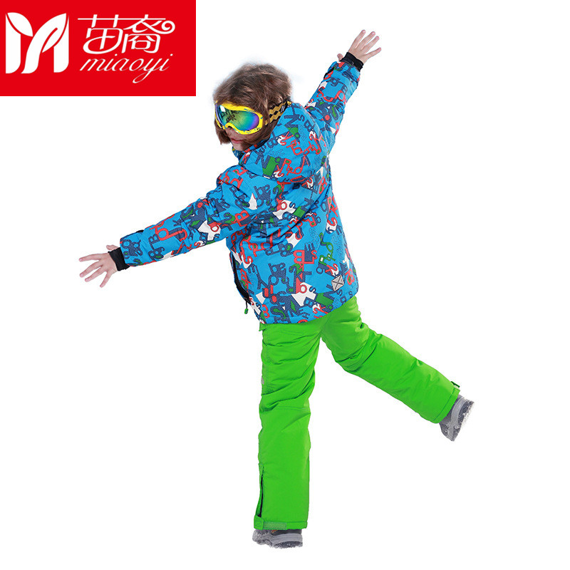 Childrens Snow Ski Suits Children Down Rompers Boys Girls Outdoor Wear Hooded Jackets+Bandage Pants Kids Warm Sport Coat Sets