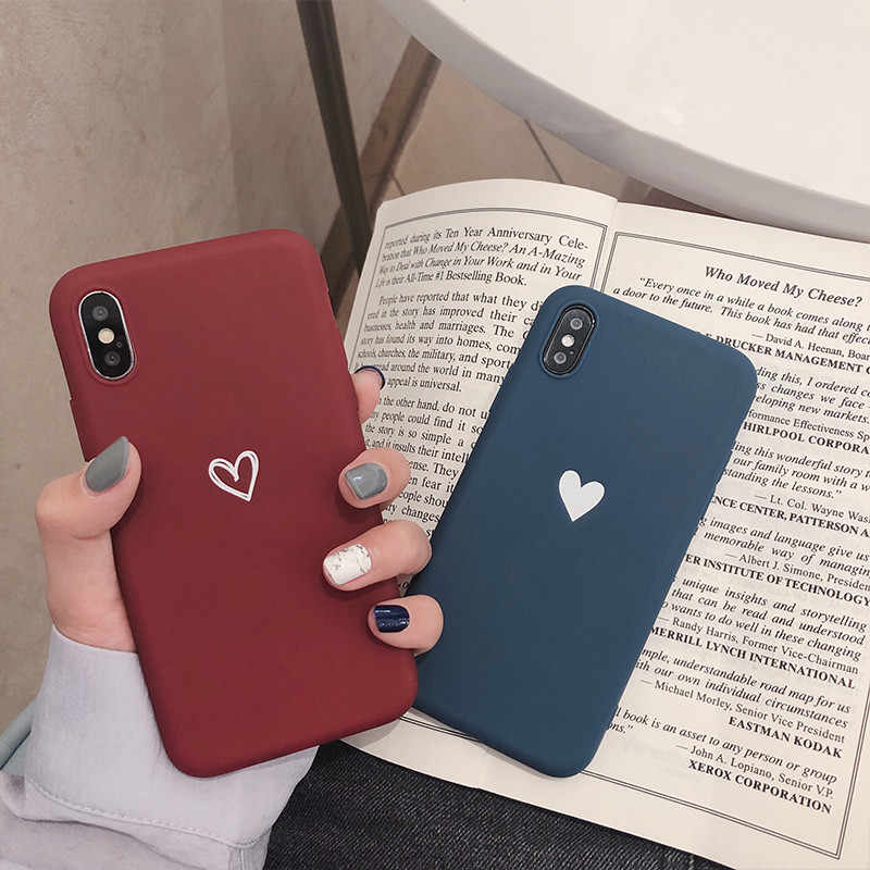 Hart Soft TPU Case Voor iPhone 7 8 Plus XS Max XR X 6 6s 5s se 5 cartoon Gevallen Shock Silicone Cover 7Plus Slanke Paar Case