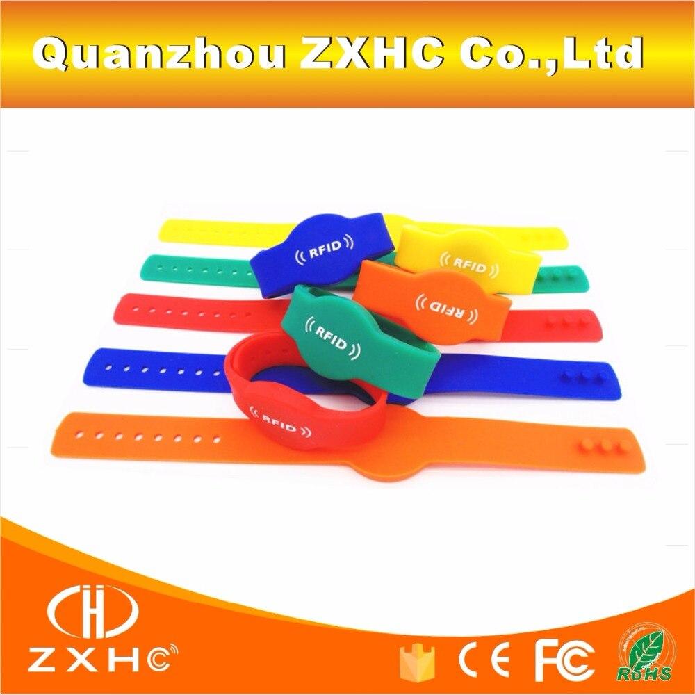 (10 Teile/los) Tk4100 (em4100) Rfid 125 Khz Lesen-nur Armband Tag Wasser-proof Einstellbare Silikon Armband Access Control-card