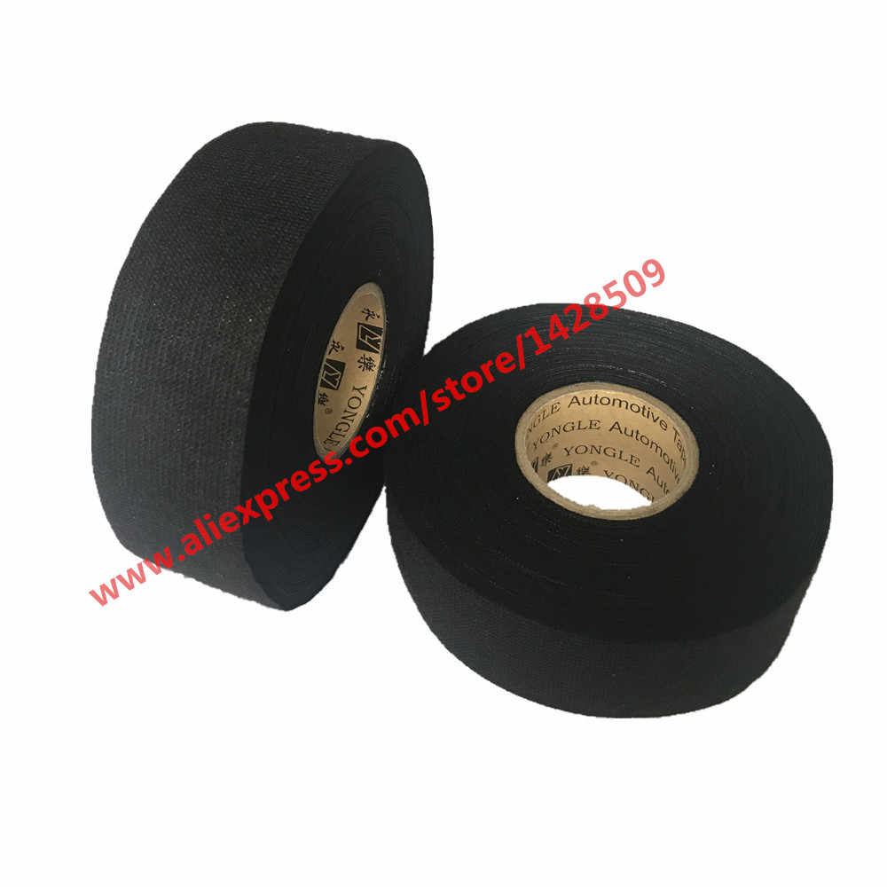hight resolution of 32mmx20m universal flannel fabric cloth tape automotive wiring harness black flannel car anti rattle self adhesive