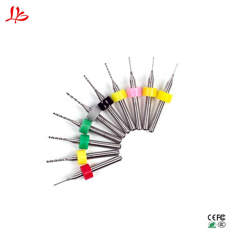 10pcs PCB Drill Tool Kit Tungsten Carbide Metal Milling Cutter Cnc Tools