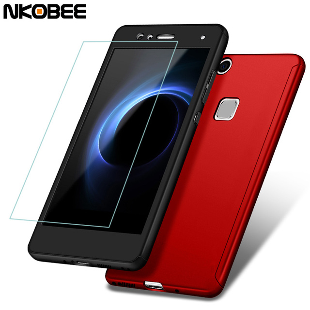 finest selection 2d4c7 1bad6 US $4.74 |NKOBEE Case For Huawei P10 lite Original 360 Full Protection  Phone Cover For Huawei P10 lite Case With Glass Screen Protector-in Fitted  ...