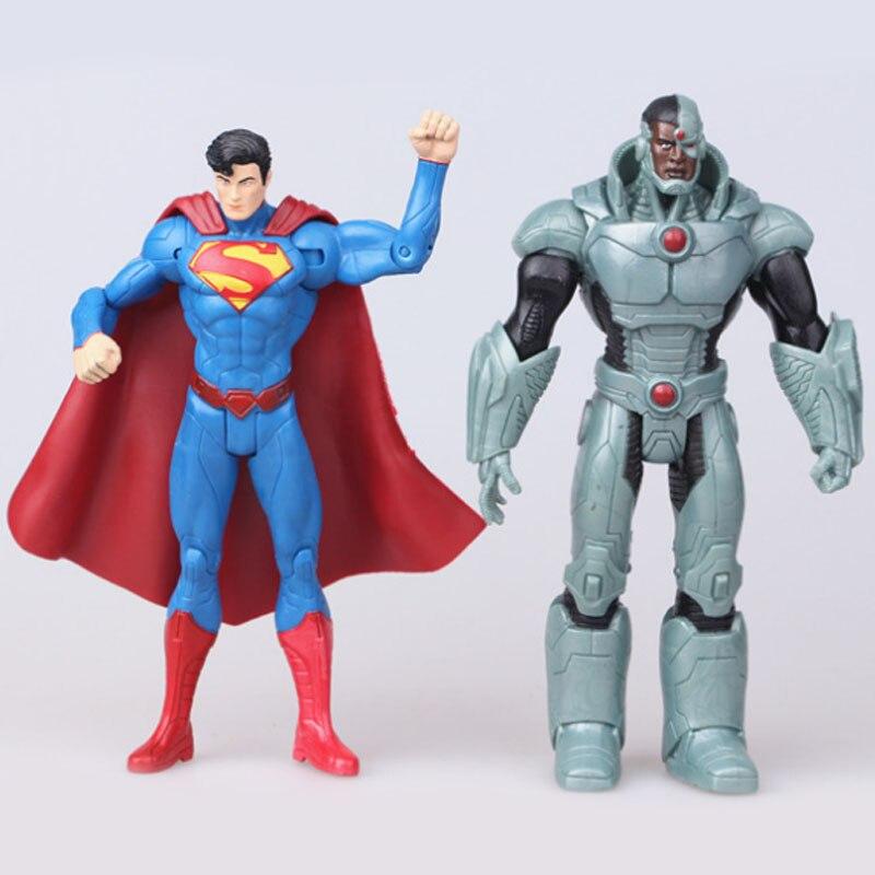 Christmas Toys Children Gifts 7pcs/set Action Toys Superman Doll Wonder Woman Batman Figure Justice League