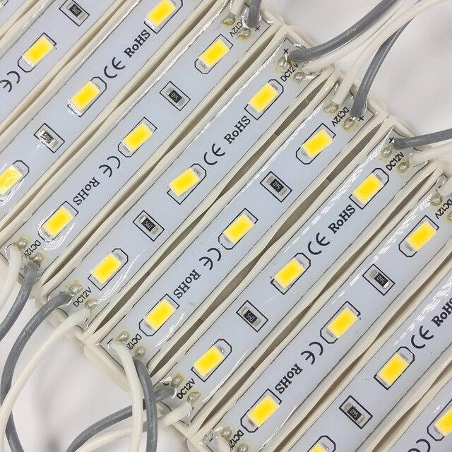 20 PCS 5630 3 LED מודול תאורה עבור סימן DC12V עמיד למים superbright smd led מודולים מגניב לבן/חם לבן /כחול/אדום צבע