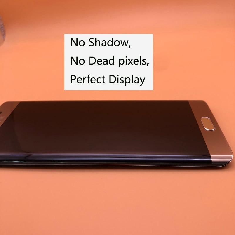 Оригинальный 5,7 ''Новый Супер AMOLED ЖК дисплей s для Samsung Galaxy S6 edge Plus G928 G928F ЖК дигитайзер сенсорный экран с рамкой
