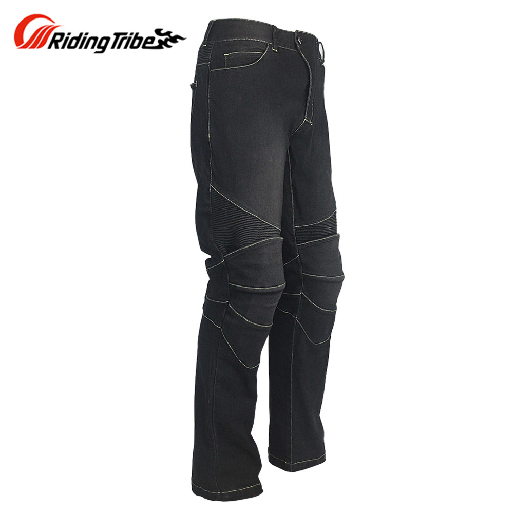 Motorcycle Jeans Pants Men Motocicleta Motocross Pants Equipment Motociclismo Pantalon Moto HP1185 Trousers Hommes Biker Pants zipper fly pleat distressed biker pants