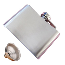 HGHO-Stainless Steel Whisky Liquor Alcohol Pocket Hip Flask +Funnel
