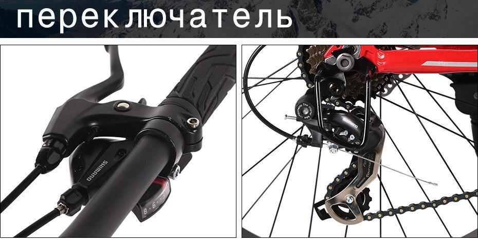Love Freedom top quality 7/24/27 Speed 26*4.0 Fat bike Aluminum Frame Mountain Bike Shock Suspension Fork bicicleta Snow bicycle