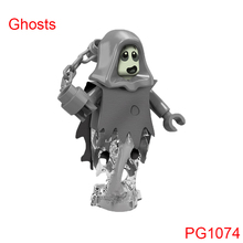 Single Sale Halloween The Horror Theme Movie Vampire Count Zombie Queen Ghosts Building Blocks Kids Toys pg1074(China)