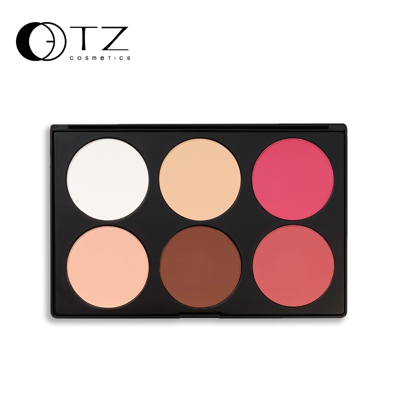6 Colors Brand  Makeup Blush Palette in Matte Face Blusher Powder Palette  makeup AB06 144 colors matte eyeshadow palette earth color eye shadow pressed powder natural face blush blusher palette eyebrow powder kits