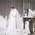 Customized Women Colorful Faux Fur Trim Winter Christmas Bridal Cape Stunning Wedding Cloaks Hooded Long Party Wraps Jacket