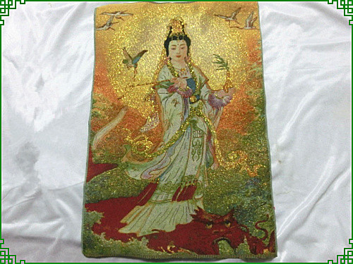 The religious activities of Buddha Thangka embroidery crafts